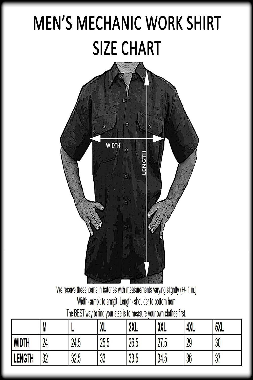 SHORE TRENDZ Biker Mechanic Work Shirt Freedoms Never Free Black//Orange