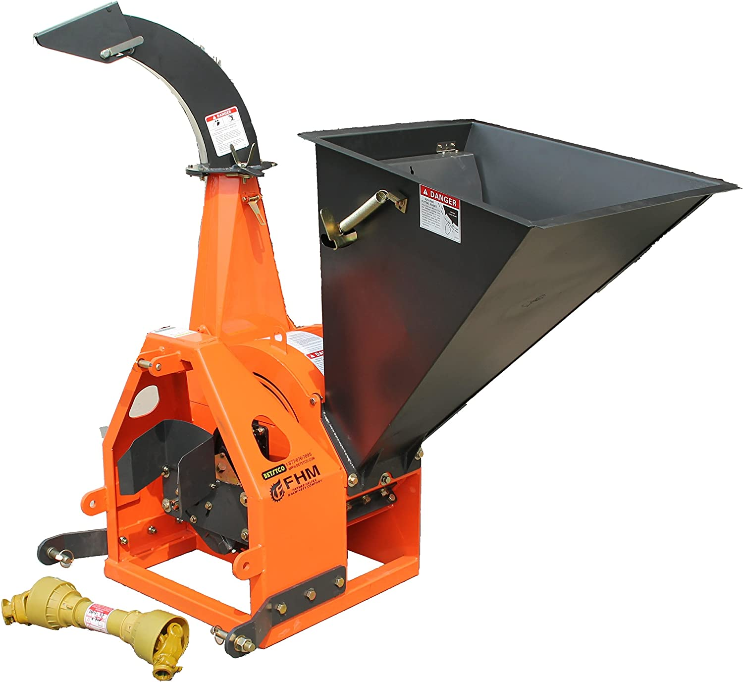 Farmer-Helper 6 Gravity Feed Drum Wood Chipper 3 point Requires a tractor. Not a standalone unit.
