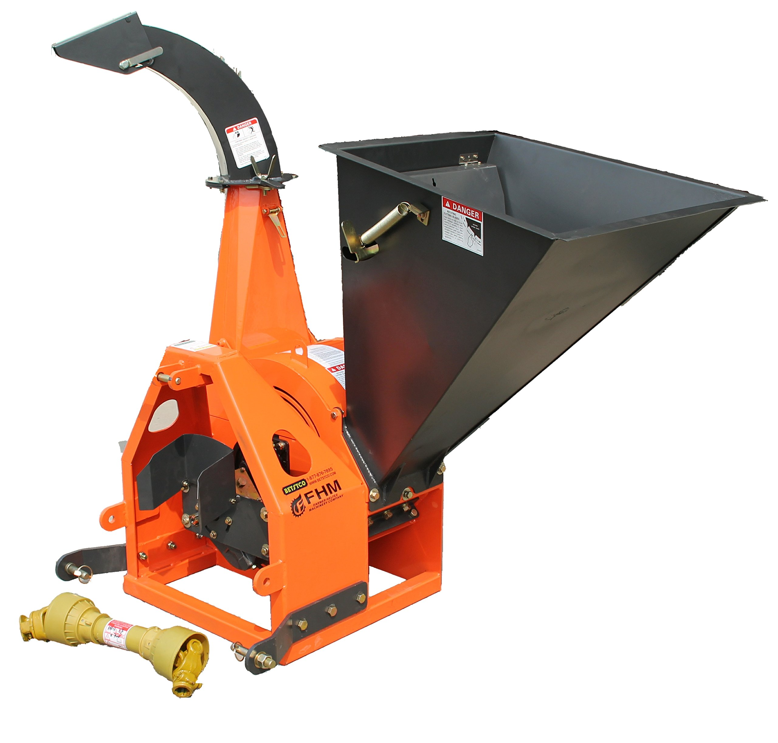 Farmer-Helper 6'' Gravity Feed Drum Wood Chipper 3 point Requires a tractor. Not a standalone unit. by Farmer-Helper