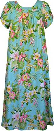 RJC Womens Colorful Plumeria Muumuu Dress