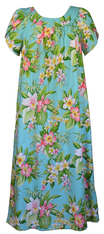 ed6107d48309 RJC Women's Hibiscus Plumeria Orchid Muumuu Dress at Amazon Women's  Clothing store: