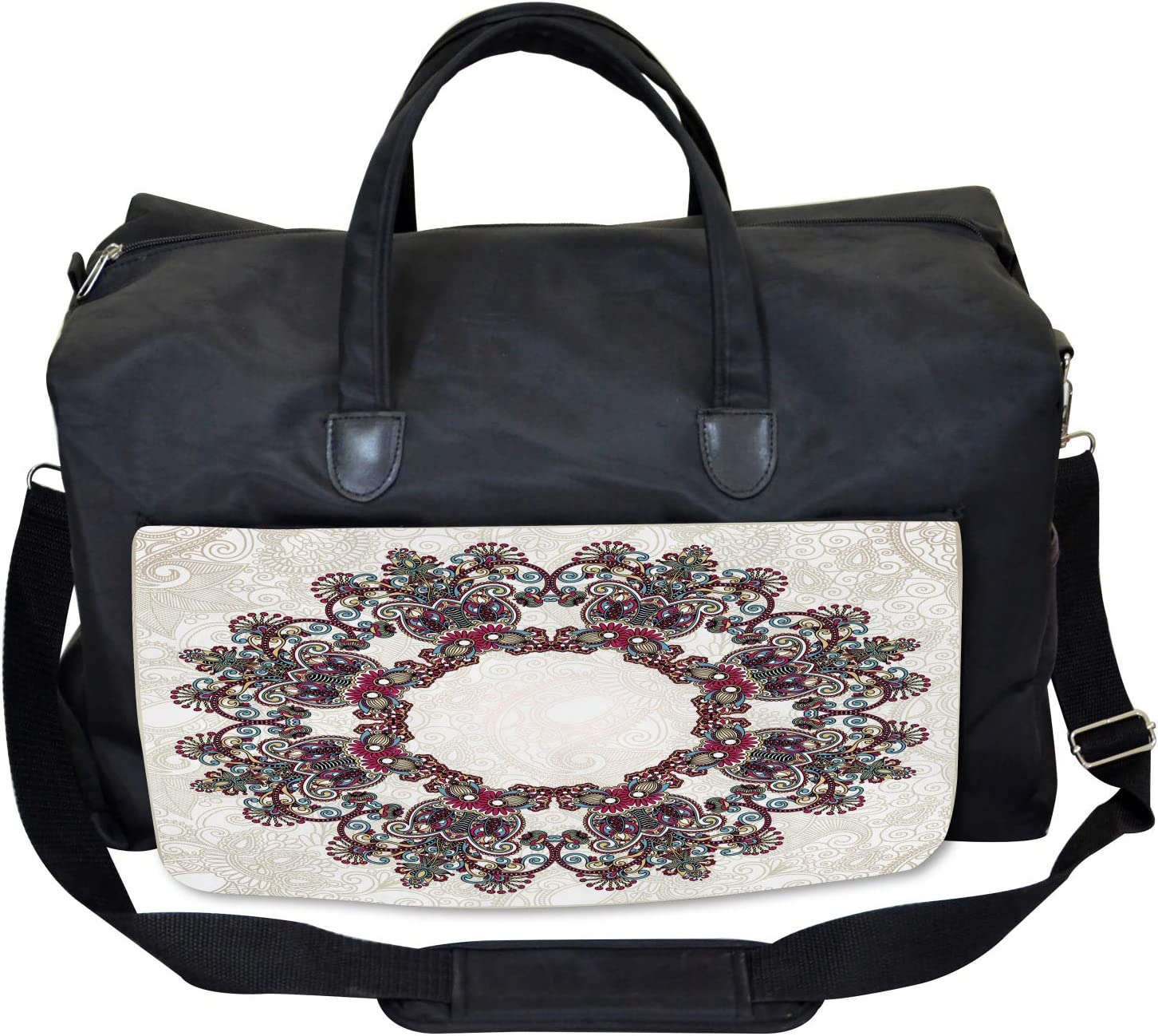 Large Weekender Carry-on Aztec Mandala Symbol Ambesonne Tribal Gym Bag