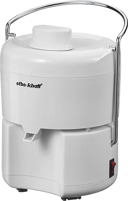 Efbe Schott Extractor de jugos, Prensa incluida, 350 W, Blanco, SC ...