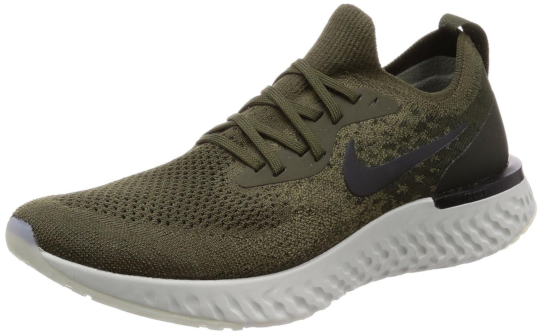 low cost 0d5ce cdf1e Amazon.com   Nike Men s Epic React Flyknit Running Shoes (11, Cargo  Khaki Black)   Athletic