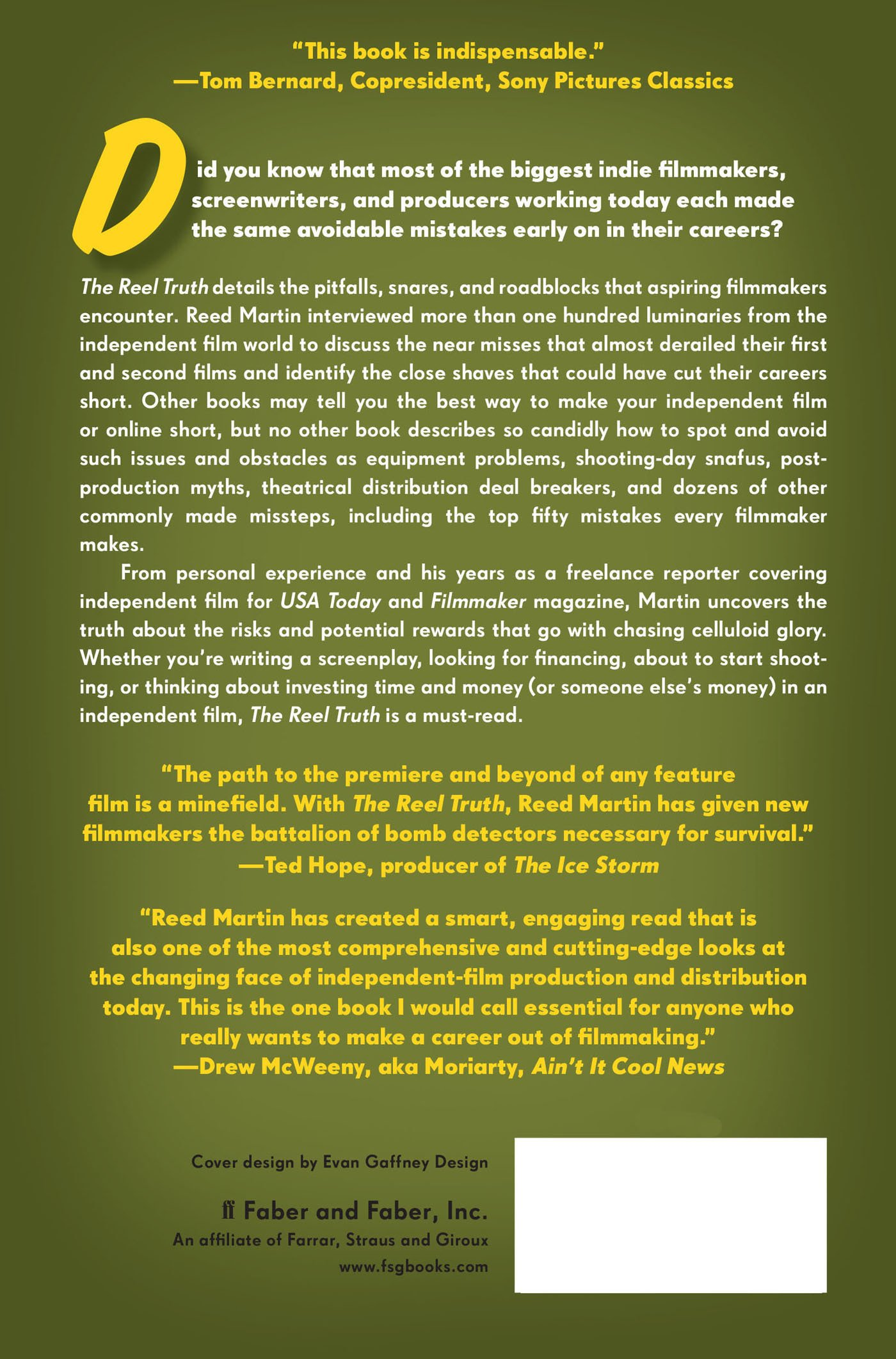The Reel Truth: Everything You Didn't Know You Need To Know About Making An  Independent Film: Reed Martin: 9780571211036: Amazon: Books