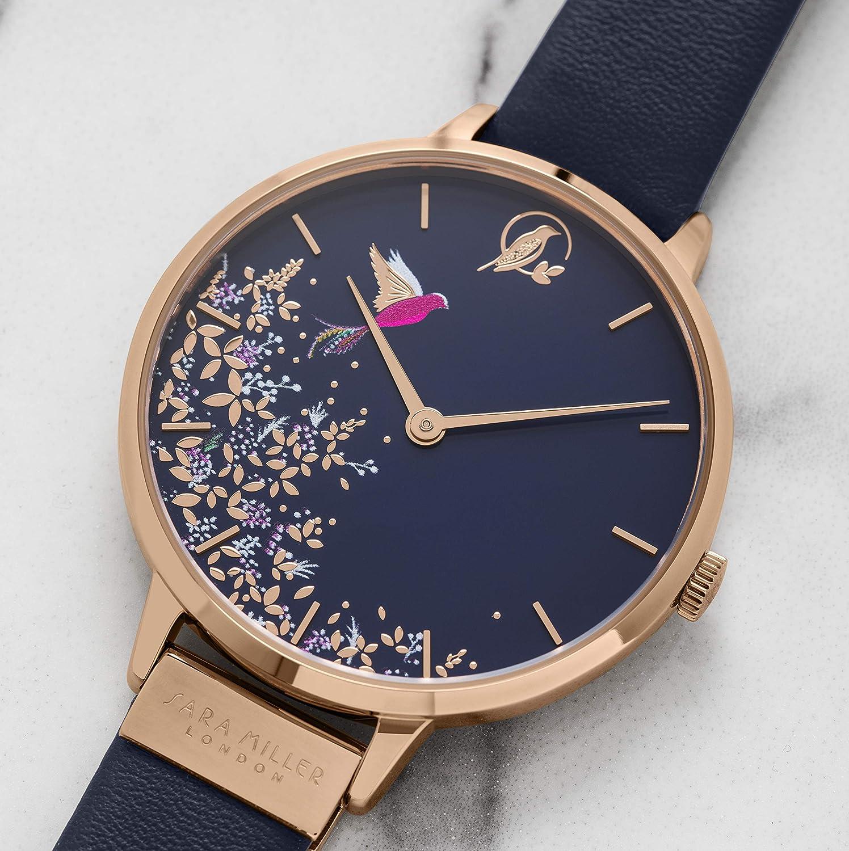 Sara Miller Chelsea Collection SA2002 - Reloj con Correa de Piel bañado en Oro Rosa: Amazon.es: Relojes