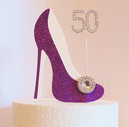 Image Unavailable Not Available For Colour 50th Birthday Cake Decoration Purple