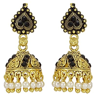 Sporting Traditional Goldtone Acrylic Stone Dangle Earring Bollywood Women Jewellery Bridal & Wedding Party Jewelry