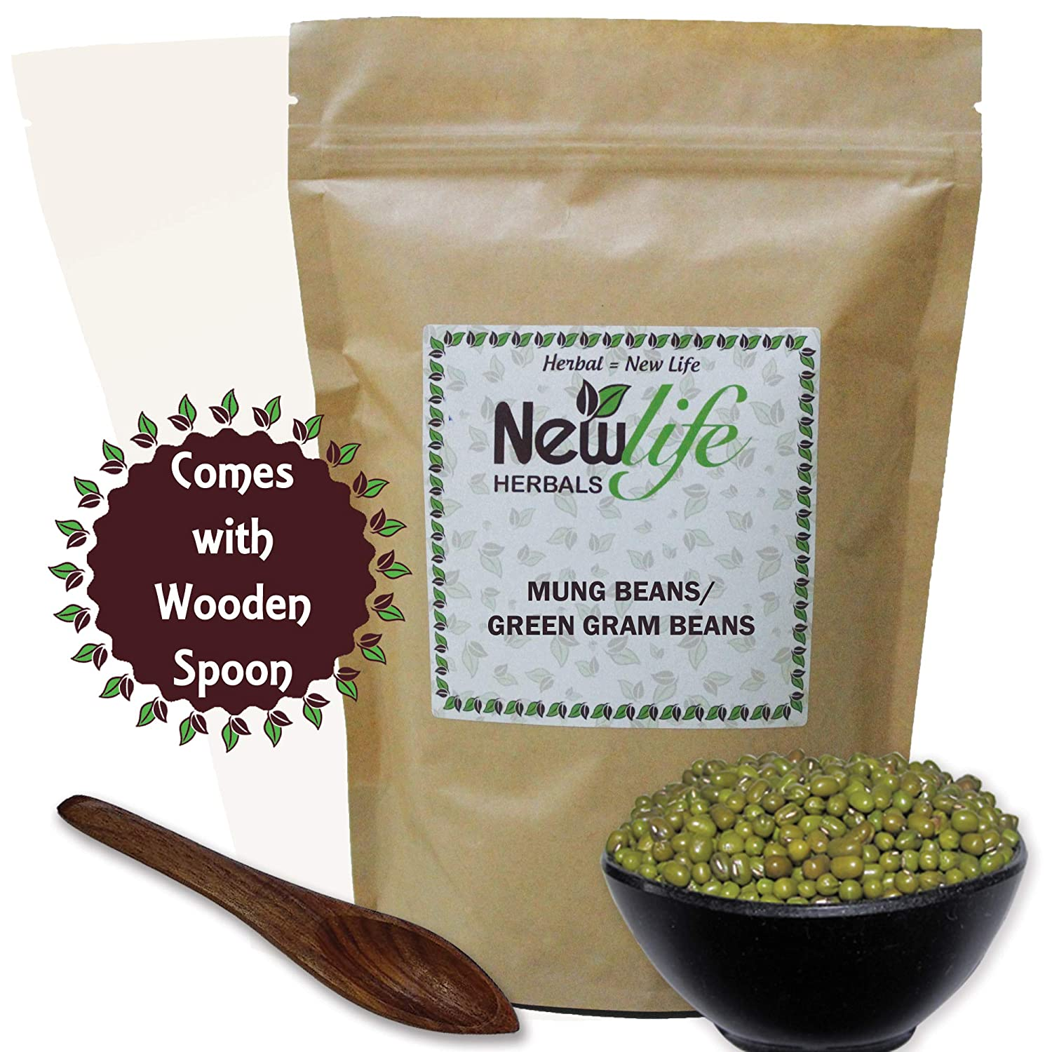 Mung Beans Green Gram Lentils for Sprouts Mag (100 Gram) New Life Herbal