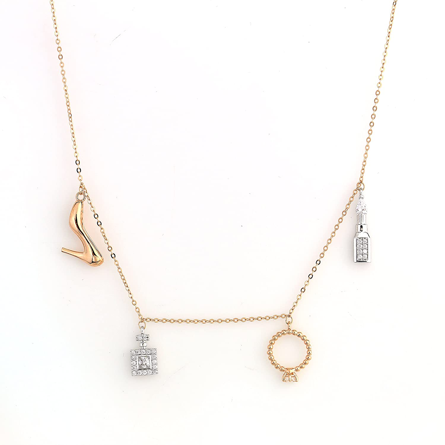 63303e1f01c2f1 UE Fun & Flirty Necklace Collection 1 - Trendy Rose, Gold, Silver Tone  Designer Necklace with Swarovski Style Crystals in Various Designs - Sun,  Moon, ...