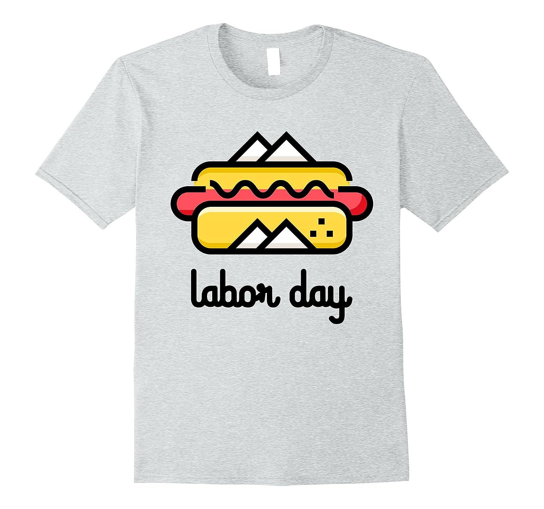 Labor Day Hot Dog Graphic T-Shirt-BN