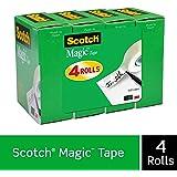 Scotch Magic Tape, 3/4 x 1000 Inches, Boxed, 4 Rolls (810K4)