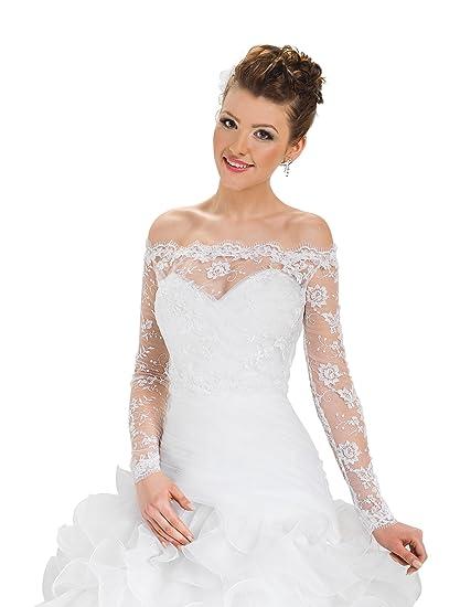 18701ae315 Ossa Women Bridal Bolero Wedding Lace Jacket Corset: Amazon.co.uk: Clothing