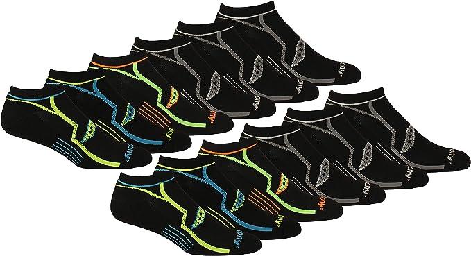 Saucony Men's Multi-Pack Bolt Performance Comfort Fit No-Show Socks