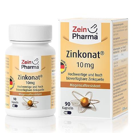 Cápsulas de Gluconato de Zinc 10mg de ZeinPharma • 90 cápsulas (3 meses de suministro