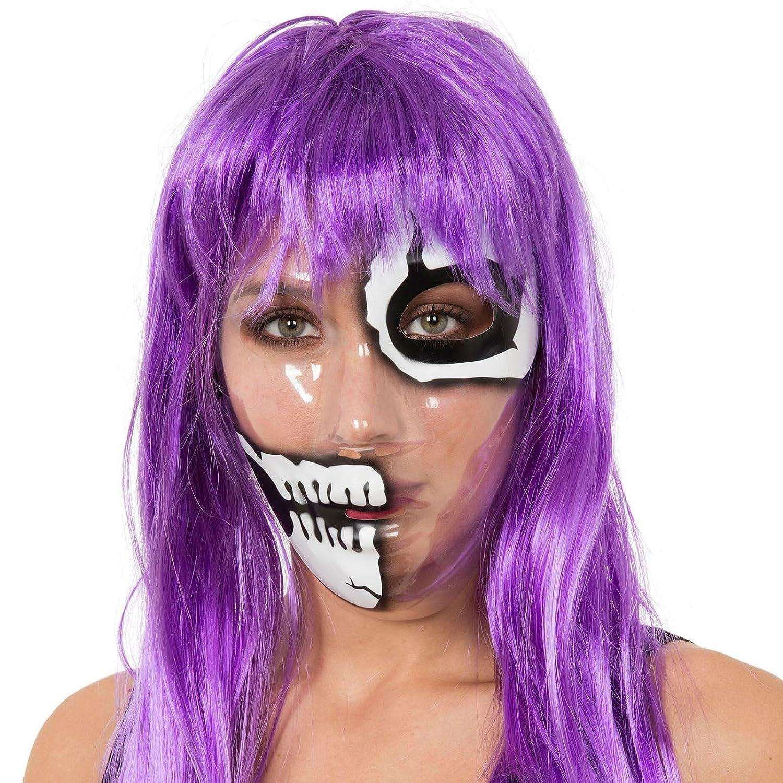 Transparent Skull Mask Skeleton Clear Fancy Dress Halloween Costume Accessory