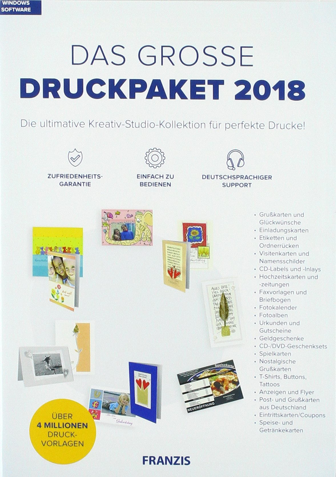 Das große druckpaket 2018 german dvd rom