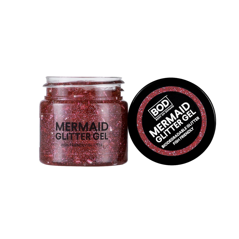 BOD - Gel de purpurina para el cuerpo de sirena, color rosa ...