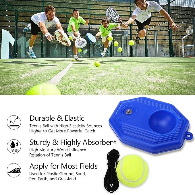 Amazon.com: juoifip entrenador de tenis juego de bolas de ...