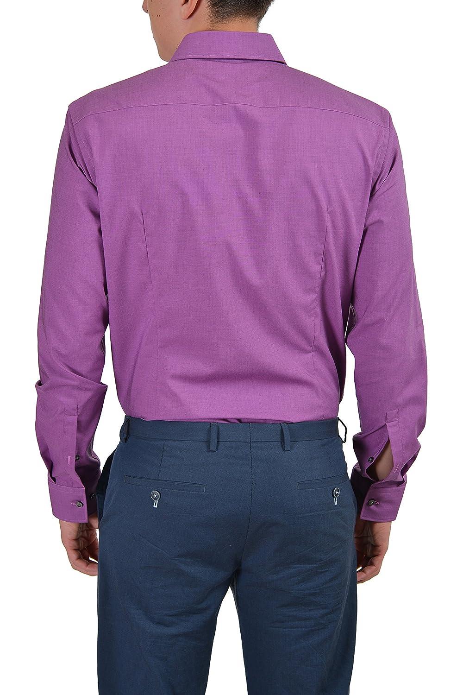 a04588b9f4f ... Hugo Boss C-Jacob Men s Purple Slim Fit Button Down Dress Shirt US  15.75 IT ...