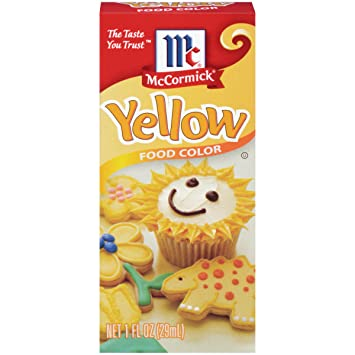 Amazon.com : McCormick Yellow Food Color, 1 fl oz : Food Coloring ...