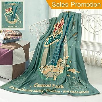 Amazon.com: Manta de franela única y personalizada, diseño ...