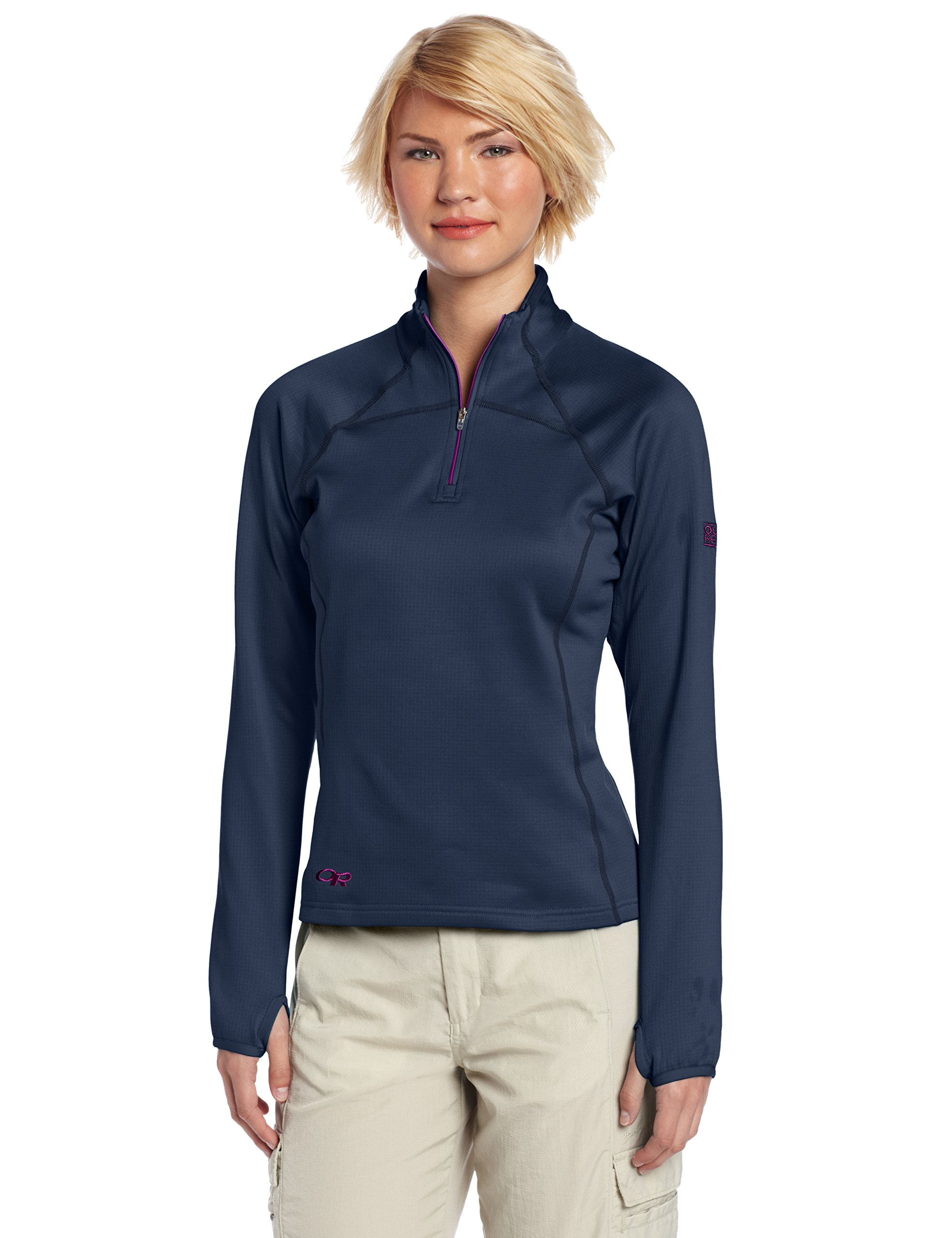 Outdoor Research Women's Radiant Light Zip Top, Night/Ultraviolet, Medium by Outdoor Research