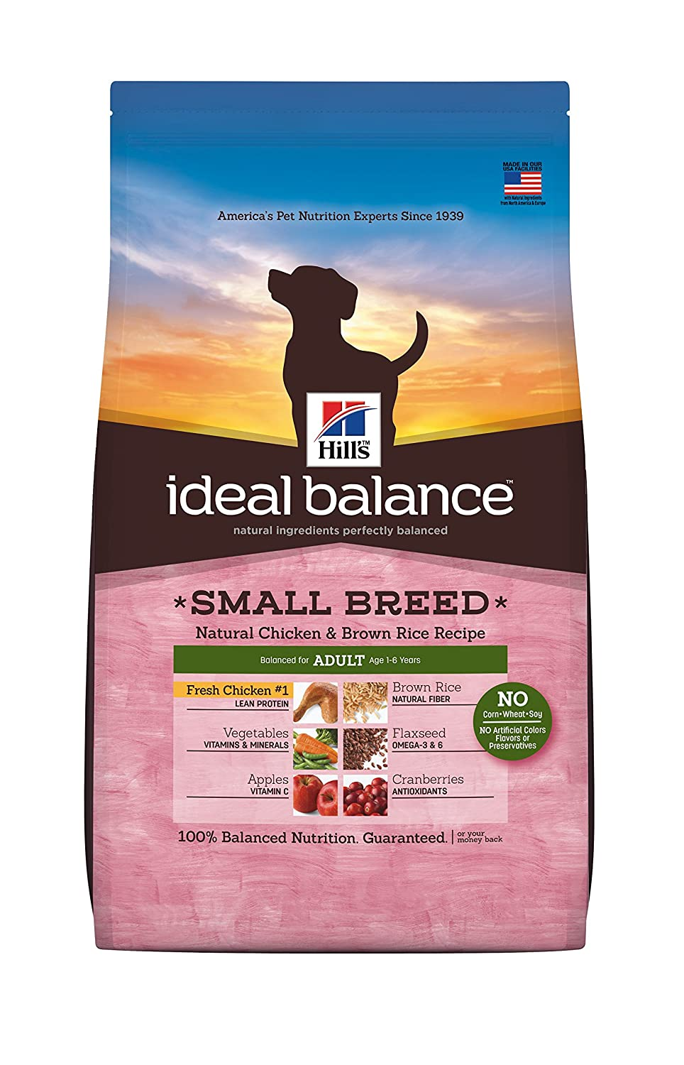 Best dog food for yorkies 2018 happy pets now 5 hills ideal balance natural chicken brown rice recipe adult small breed dog nvjuhfo Images