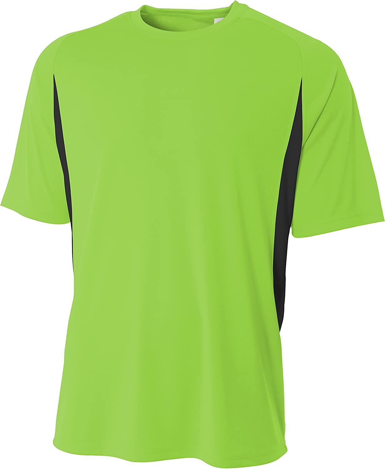 A4 Men's High-Performance Moisture-Wicking Color Block T-Shirt