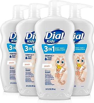 4-Pack Dial Kids 2-in-1 Body+Hair Wash