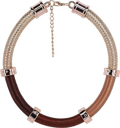 GMQHD - Gargantilla para Collar Africano para Mujer, joyería de Moda, Conjunto de Collar, Caja para cumpleaños o Navidad. (marrón): Amazon.es: Joyería