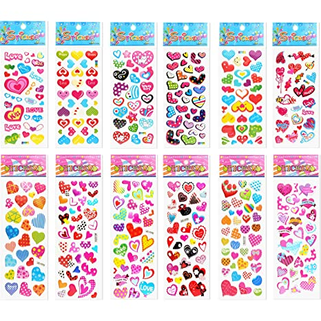 98286dc6c04bb TUPARKA 60 Feuille Stickers 3D en Relief pour Enfant