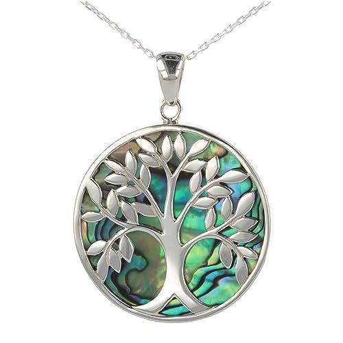 2f0ec6fe361db0 idée cadeau anniversaire-Cadeau bijoux symbole Arbre de vie-Pendentif-Nacre  Abalone-
