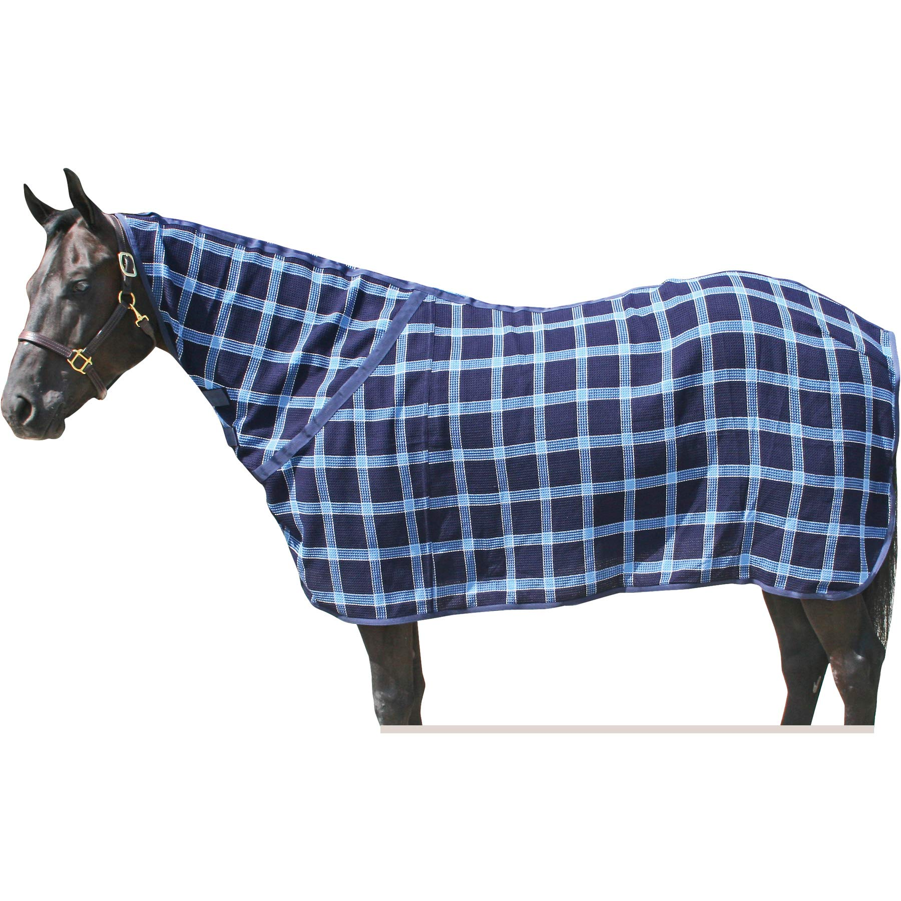 Schneiders Saddlery Dura-Tech Plaid Cashmelon Contour Cooler (Large, Blue Plaid)