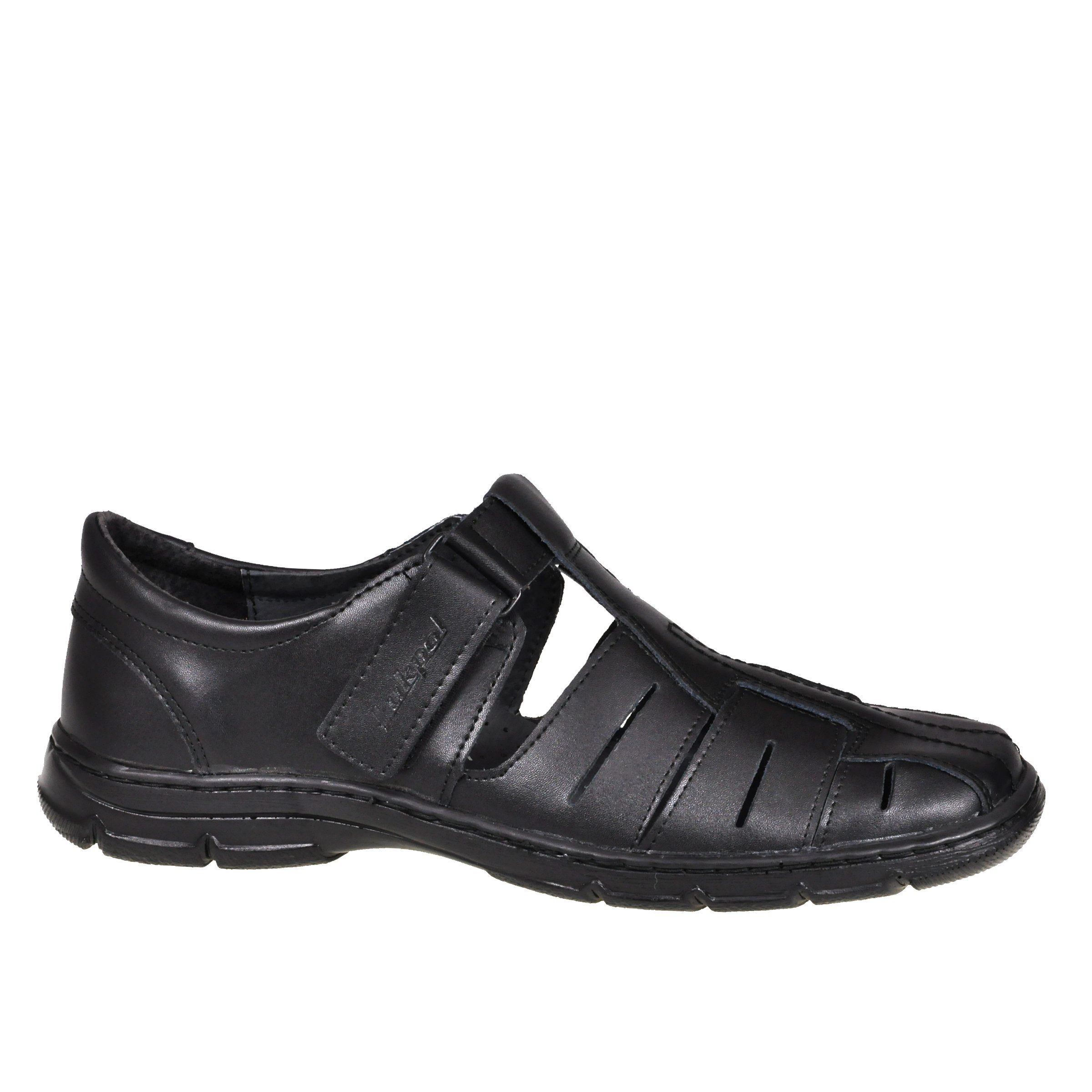 Lukpol Mens Orthopedic Form Buffalo Leather Sandals Model-1062