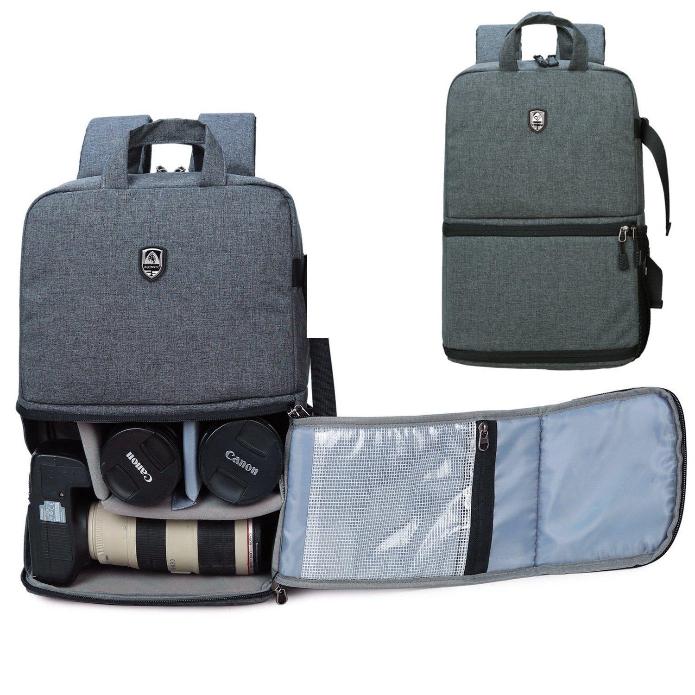 Abonnyc Dslr Camera Backpack Bag Case/Hiking Bag Laptop Travel Backpack by Abonnyc