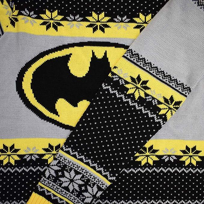 "LARGE 17/"" KNIT BATMAN DC COMICS UGLY CHRISTMAS X-MAS STOCKING NEW NWT"