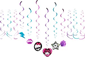 amscan Swirl Value Pack | Monster High Collection | Party Accessory,Multi Color,24""