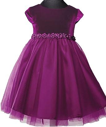 2e41c0b0275a1 Amazon.com: Onlybridal Velvet Tulle Cap Sleeve First Communion Dresses for  Girls: Clothing