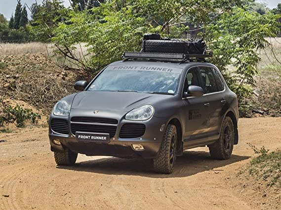 Front Runner Porsche Cayenne (2002-2010) Slimline II Grab-On Roof Rack Kit - by: Amazon.es: Coche y moto