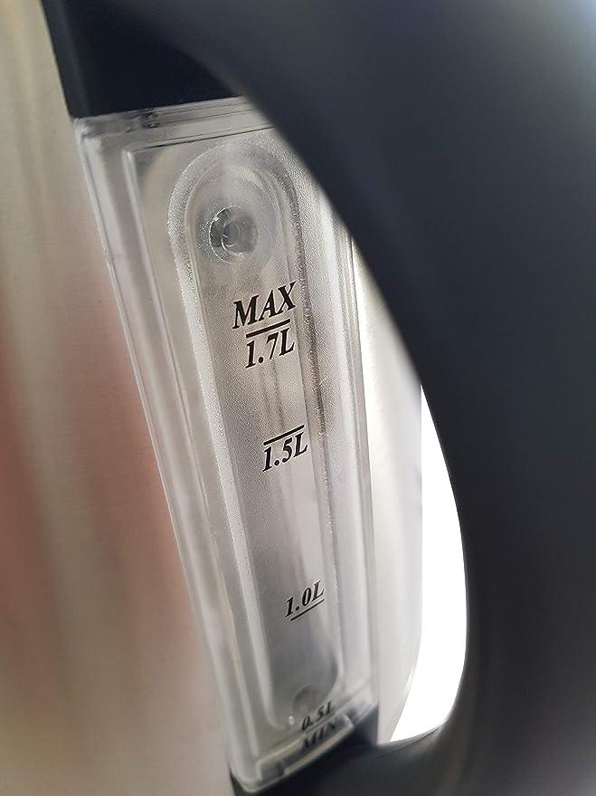 MPM MCZ-51/M Hervidor de Agua Eléctrico Inalámbrico de Acero Inoxidable, 1,7 Litros, 2200W, Libre de BPA, Plateado: Amazon.es: Hogar