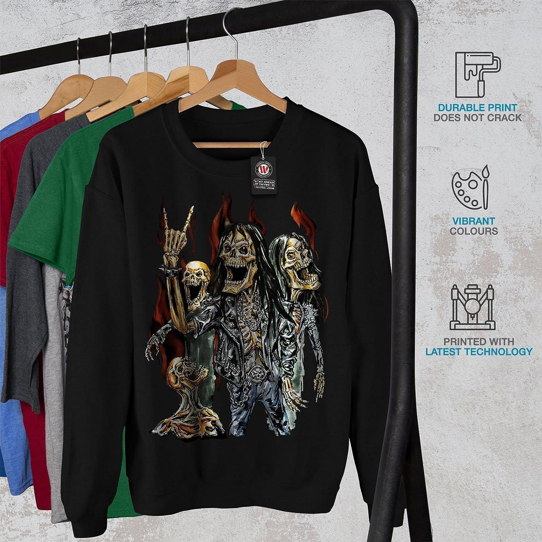 wellcoda Skeleton Rock Band Mens Sweatshirt Heavy Casual Jumper