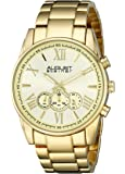 August Steiner Men's AS8163YG Yellow Gold Chronograph Quartz Watch with Yellow Gold Dial and Gold Bracelet