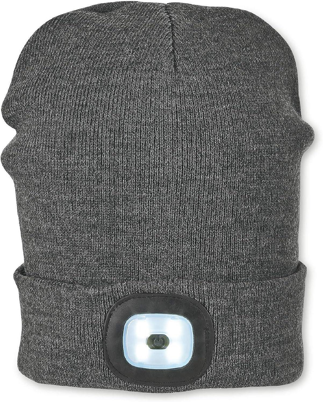 Taille : 51//53 cm Sterntaler Bonnet pour Gar/çons avec Fonction Lumi/ère Gris Anthracite /Âge : /à partir de 18 mois