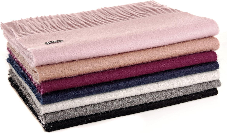 Kaschmir Schal Damen rosa weich Stapel