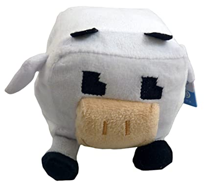 8cm Pixel M8 Soft Toy - Black + White Cow - 5 To Collect by Toyland