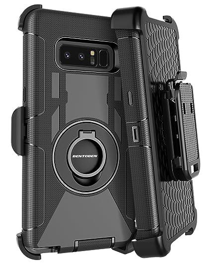 great fit b9cd4 d3887 BENTOBEN Galaxy Note 8 Case Belt Clip, Heavy Duty Shockproof Kickstand  Swivel Belt Clip Full Body Rugged Bumper Hybrid Holster Protective Case for  ...