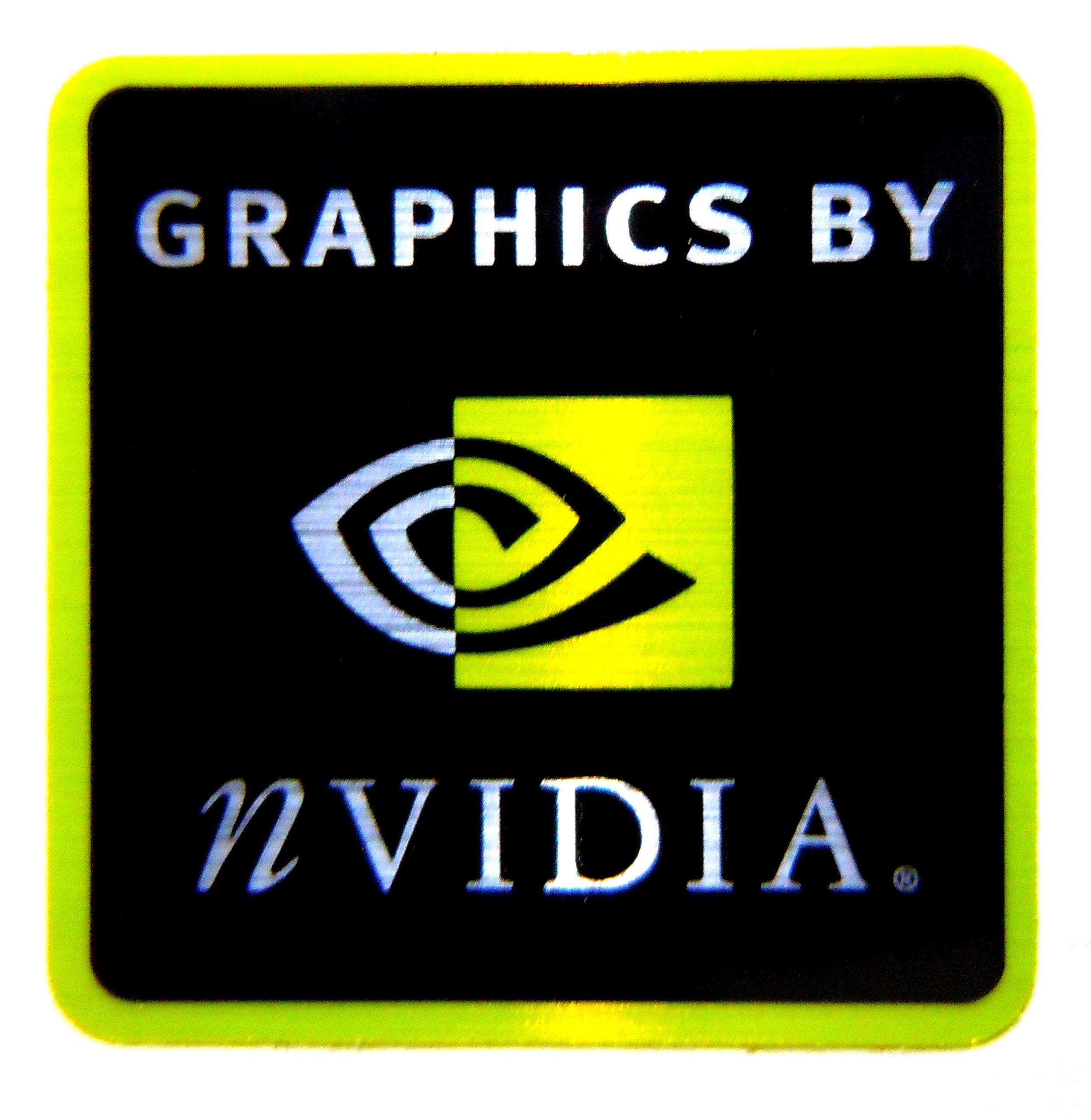 Original Graphics by NVIDIA Sticker 25 x 25mm [332]