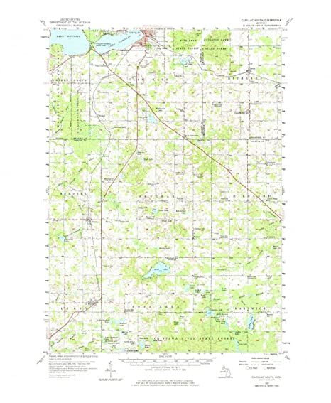 Amazon Com Yellowmaps Cadillac South Mi Topo Map 1 62500 Scale 15