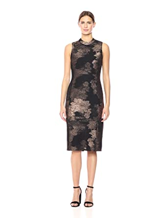 Nine West Women s Mock Turtleneck Sleeveless Sheath Dress at Amazon ... 2a3c220ad